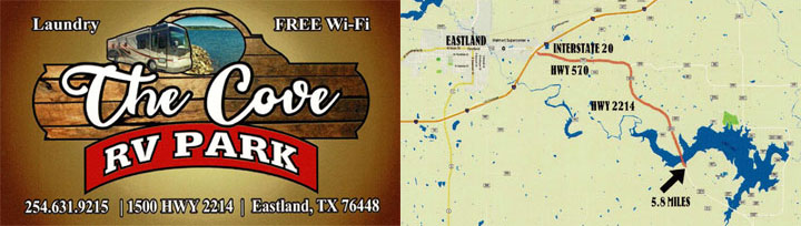 the cove rv park and map
